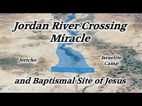 Jordan River Crossing Miracle Into Promised Land, Baptismal Site Of Jesus, Qsar Al Yahud, Jericho