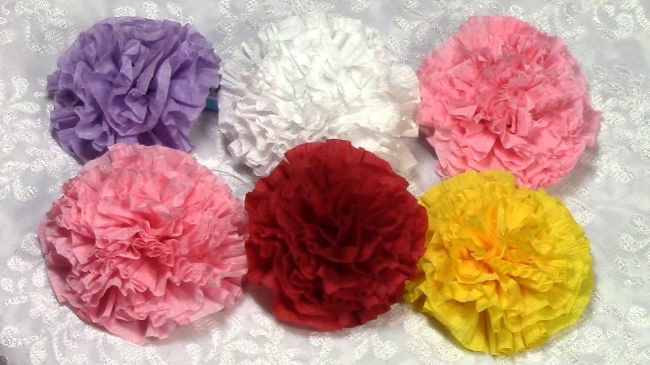 Diy easy paper flowers tutorial diy how to do for Flower decoration made of paper