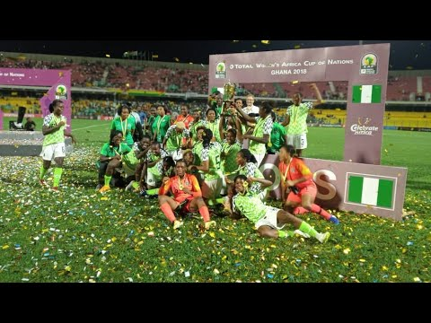 AWCON: Super Falcons beat South Africa 4-3 on penalties to lift trophy