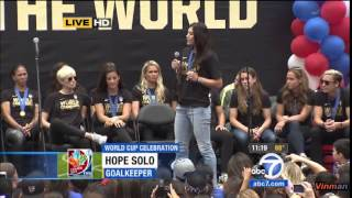 7/7/15 - USWNT Celebration Los Angeles *Full*
