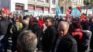 Jeudi 15 mars 2018 manifestation des retraités contre l'augmentation de la CSG