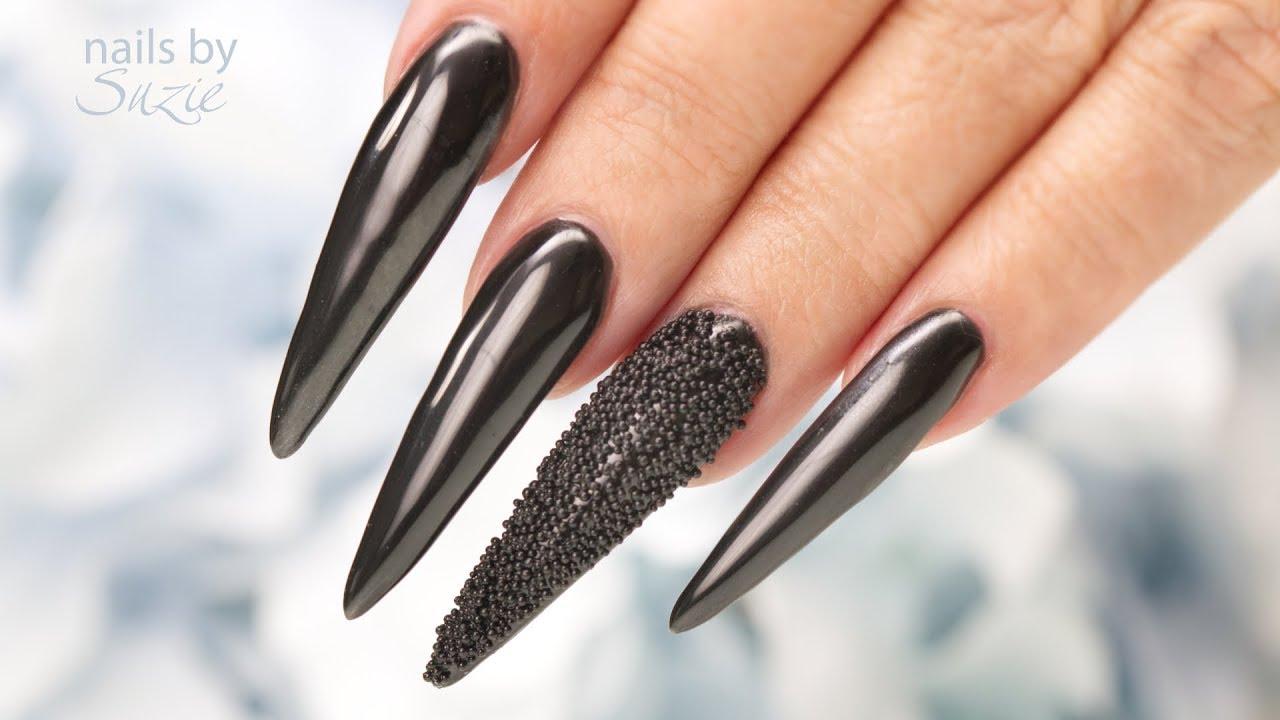 Chrome Black Nails