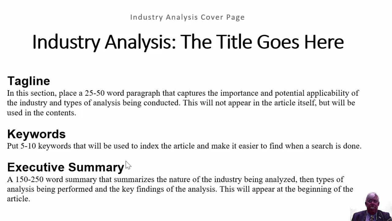 DRAFT MBR Template Video Industry Analysis YouTube – Industry Analysis Template