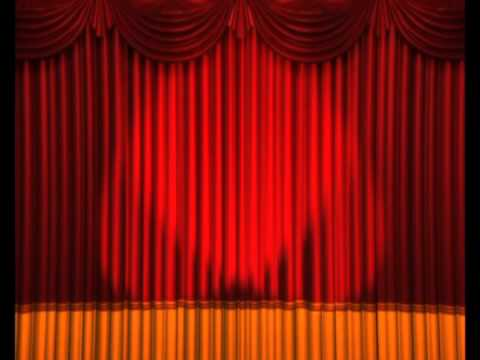 Opening Curtains Lights Flashing Stage Animation Anime Studio -  free video download
