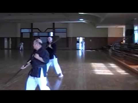 Yogi Yosei Teaching Nunchaku & Bo 2010