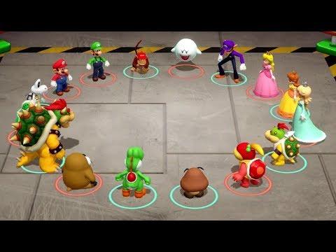 Super Mario Party Minigames - Mario & Peach vs Bowser & Bowser Jr