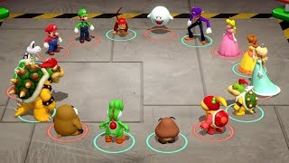 Super Mario Party Minigames - Mario & Peach vs Bowser & Bowser Jr