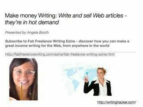 Make money Writing: Write and sell Web articles - they're in