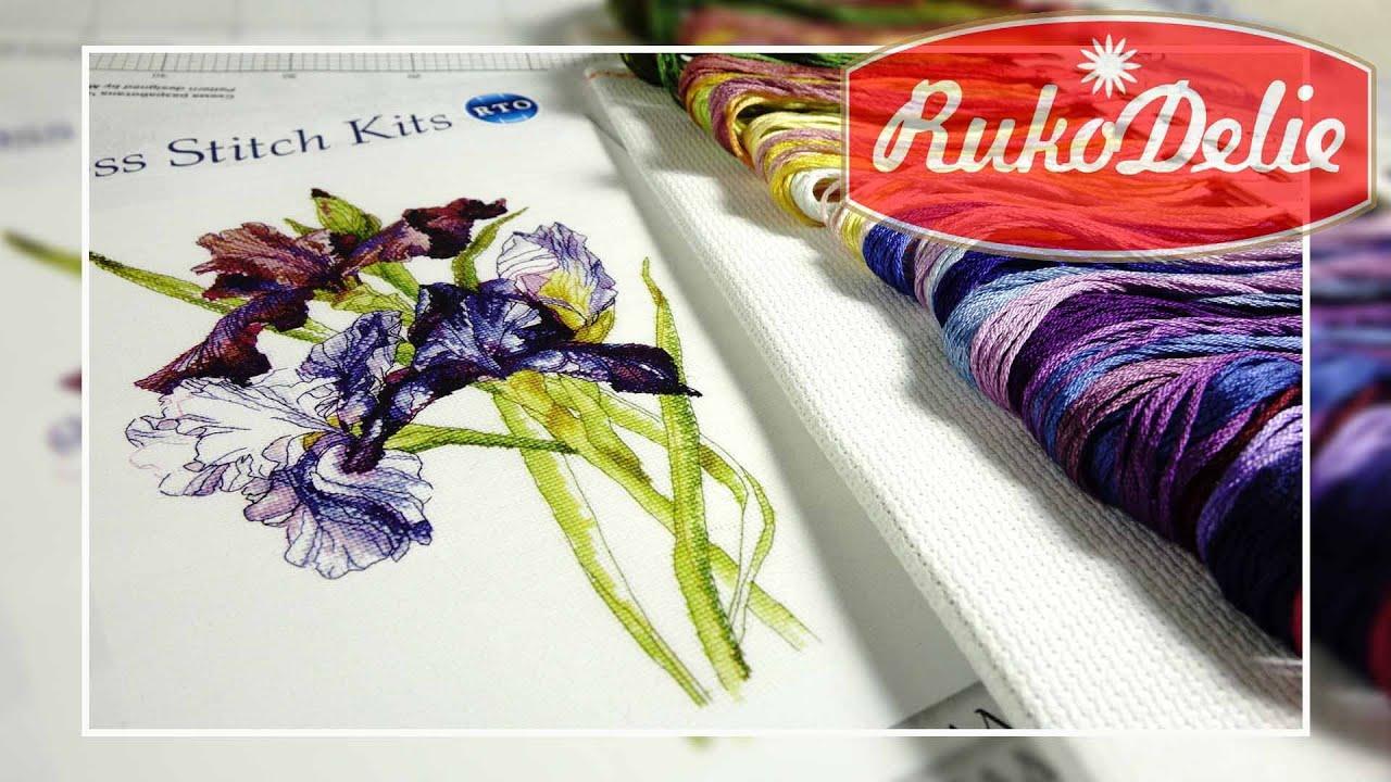 Набор РТО Радуга Ирисов 💐 Цветы, которые не вянут!