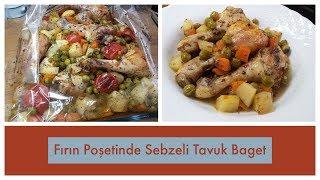 Fırın Poşetinde Sebzeli Tavuk Baget- Naciye Kesici - Yemek Tarifleri