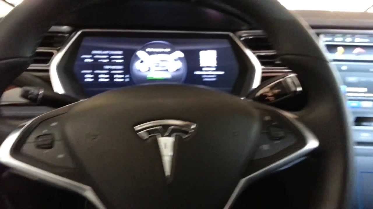 tesla model s interior electric luxury car youtube. Black Bedroom Furniture Sets. Home Design Ideas