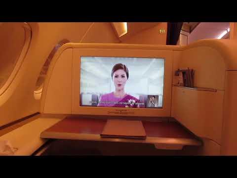 Thai Royal First Class A380 Bangkok to Paris