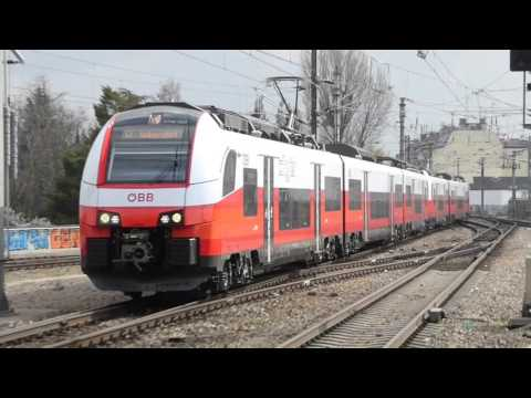 S-Bahn and Passenger Trains in Vienna, Austria