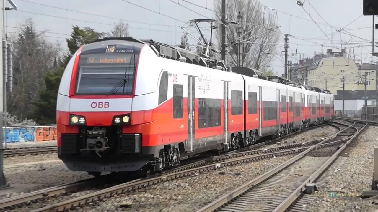 S Bahn And Passenger Trains In Vienna Austria Youtube