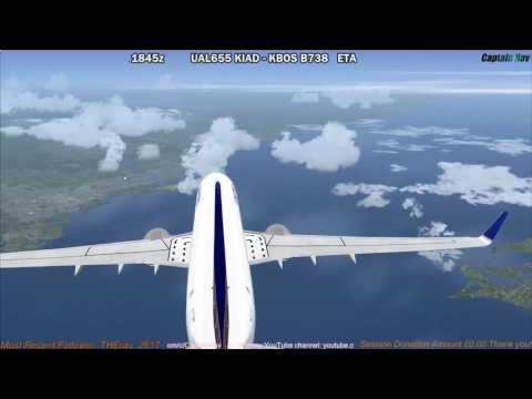 [FSX] PMDG 737 NGX | Washington Dulles (KIAD) to Boston (KBOS) Part 2