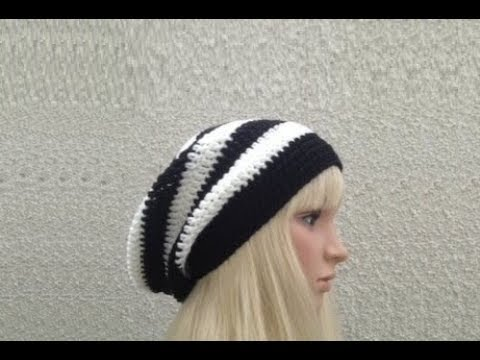 Crochet Patterns On Youtube : ... to Crochet a Slouchy Hat Pattern #10 ?by ThePatterfamily - YouTube