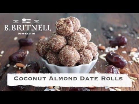Almond Coconut Date Rolls Recipe