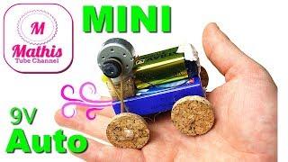 DIY MINI CAR 9V | kleines spielzeug auto bauen