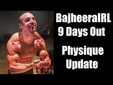 BajheeraIRL - August 2018 Physique Update #2 (182 lbs) - Natural Bodybuilding Vlog (9 Days Out )