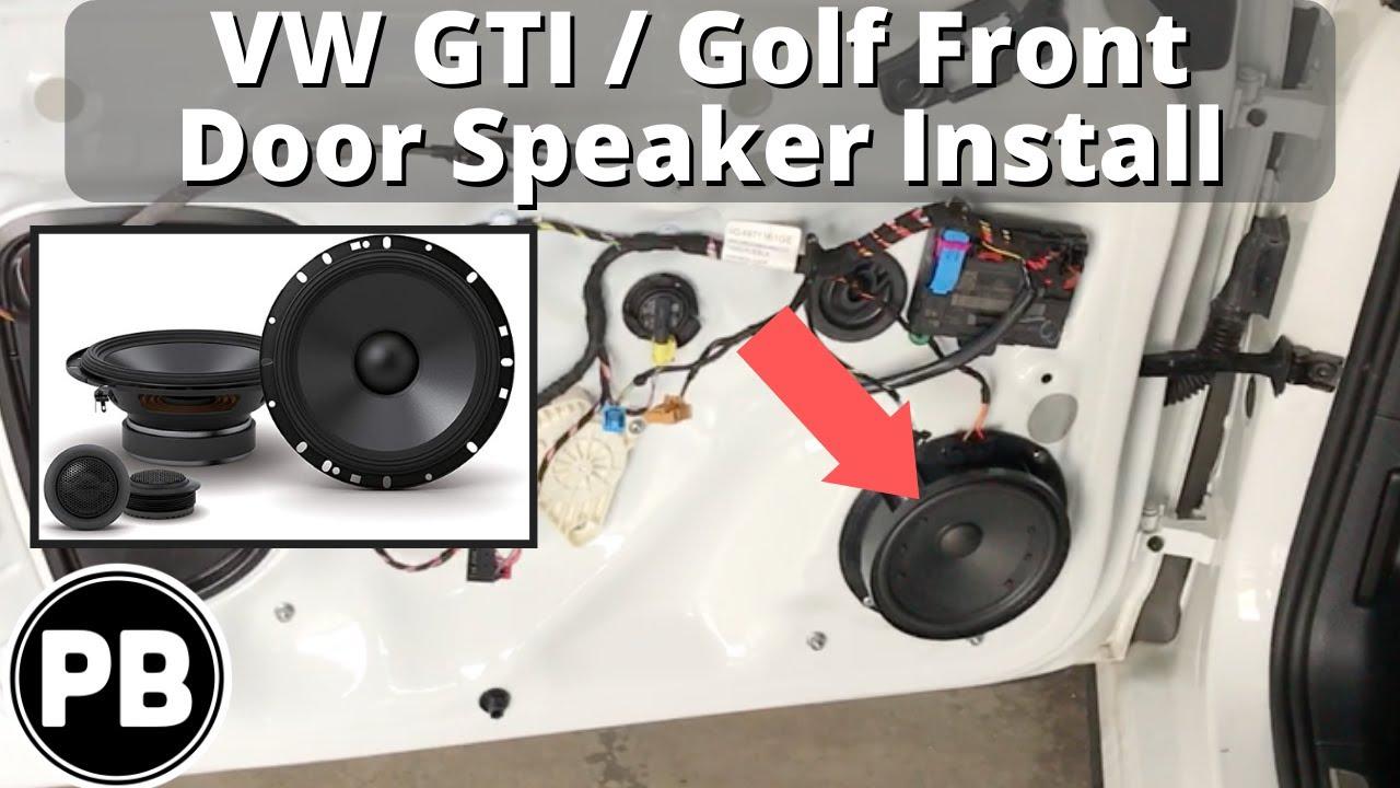2014  Up VW GTI  GOLF Front Door Speaker and Tweeter