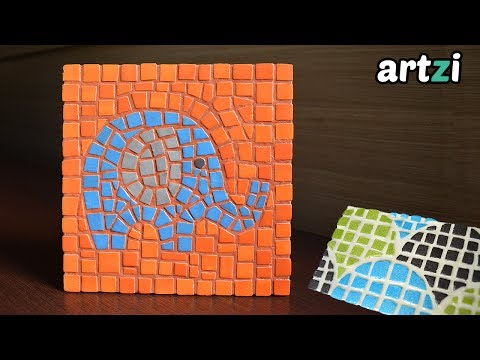 Recycled Styrofoam Tray Mosaic