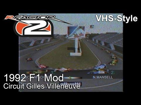 rFactor 2 - 1992 F1 Mod @ Circuit Gilles Villeneuve - VHS-Style