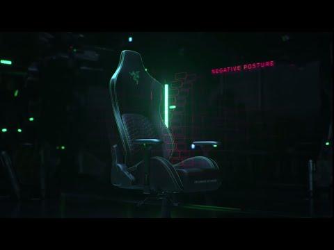 Razer Iskur - Chaise de jeu haut de gamme avec support lombaire intégré