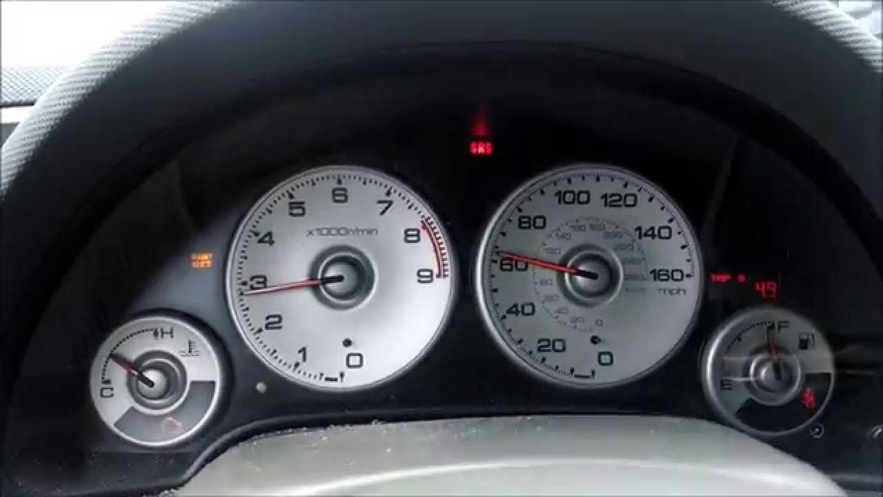 Acura Rsx Array Of Warning Lights Youtube