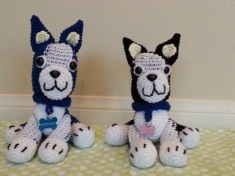Crochet easy amigurumi boston terrier dog DIY tutorial part 2