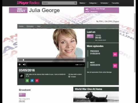 BBC Radio Kent Broadcast - Julia George