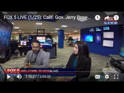 FOX 5 LIVE (1/25): Calif. Gov. Jerry Brown makes final 'State of the State' address in Sacramento