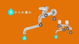 水栓の水漏れ修理 ~コマパッキンの交換方法/How to/DCMチャネル