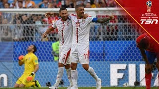 Booming Free Kick Goal Gives Serbia A Win In Heated Match Against Costa Rica