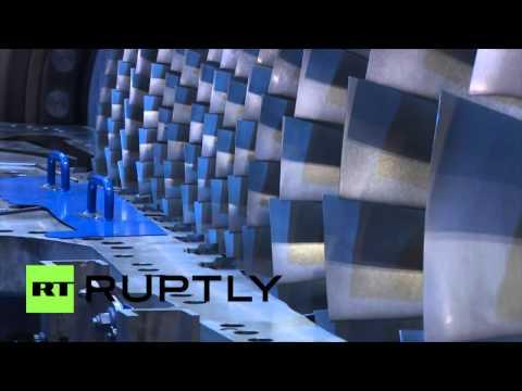 La plus grande turbine à gaz du monde en images