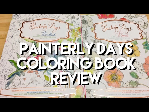 painterly-days-watercolor-books:-woodland-and-flowers-adult-coloring-book-review,-and-flipthrough