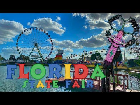 Florida State Fair 2020, Crazy Rides, A Giant Slide, And Four Ferris Wheels