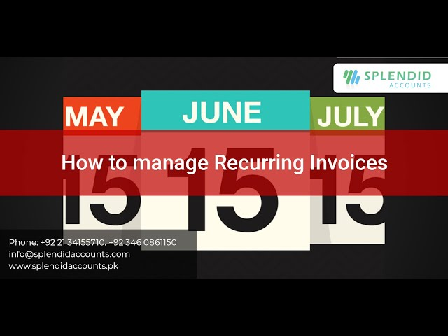 How to manage Recurring Invoices in Splendid Accounts