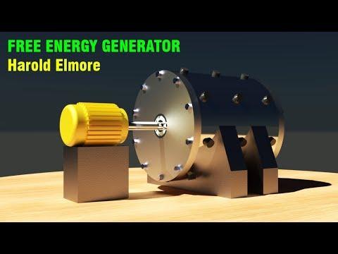 FREE ENERGY GENERATOR, Harold Elmore Magnetic Motor Propulsion system