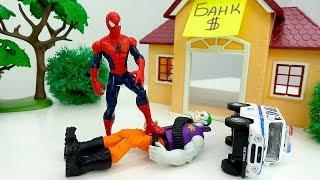 Куда пропало золото? - Человек Паук vs Джокер - Видео с супергероями.