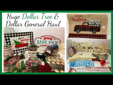 Dollar Tree And Dollar General  Christmas Haul 2020