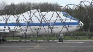 James Mattis Boeing E4B Nightwatch 40787 Doomsday plane taking off in Vilnius (4K video)