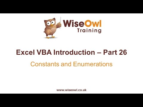 Excel VBA Introduction Part 26 - Constants and Enumerations (Const, Enum)
