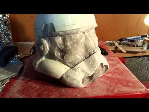 Storm trooper pepakura and fiberglass helmet build