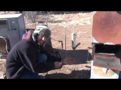 Thermal cracking biocrude oil