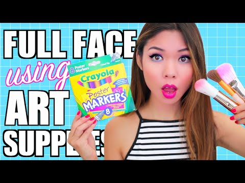 Thumbnail: FULL FACE USING ONLY Art Supplies Challenge!