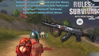THIS IS WHY THE AKM IS MY NEW FAVORITE AR! Rules of Survival PC Gameplay