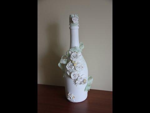 Свадебная бутылка (wedding decor bottle).