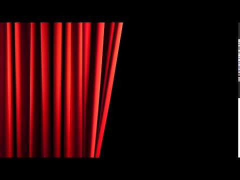 Футаж Красный одинарный занавес Footage Red single curtain HD