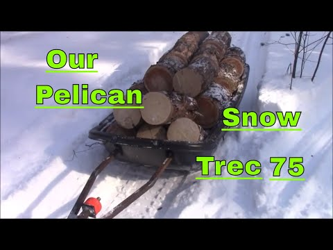 We Made Four Loads Of Firewood Today With Our New Pelican Snow Trec 75 Sleigh