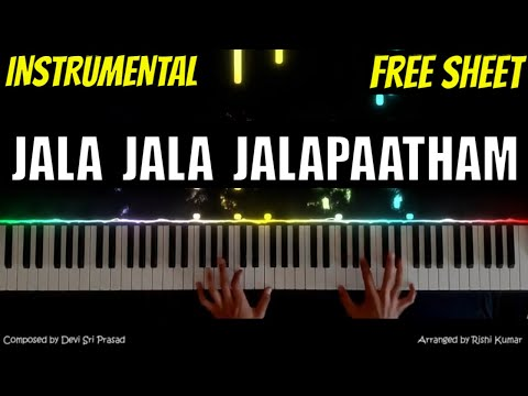 jala-jala-jalapaatham-nuvvu-piano-karaoke-instrumental-|-uppena-|-tutorial-|-telugu-songs-piano